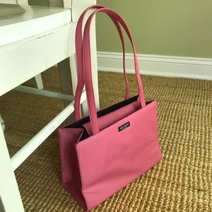Iconic Kate Spade Sam Box Bag. Pink Nylon.